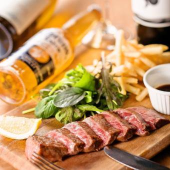 【Meat dishes】 Miyazaki beef also steak 100 g
