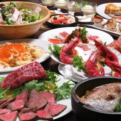 【◎ to welcome reception ◎】 luxury course ☆ 10 dishes of food + 2h [with drinking] 5000 yen