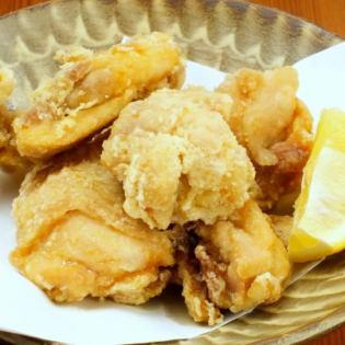Deep-fried salt of young chicken