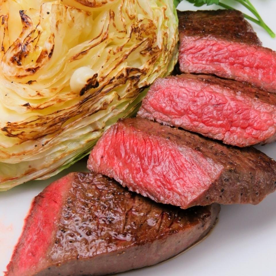 和牛赤身肉のステーキ (120g)