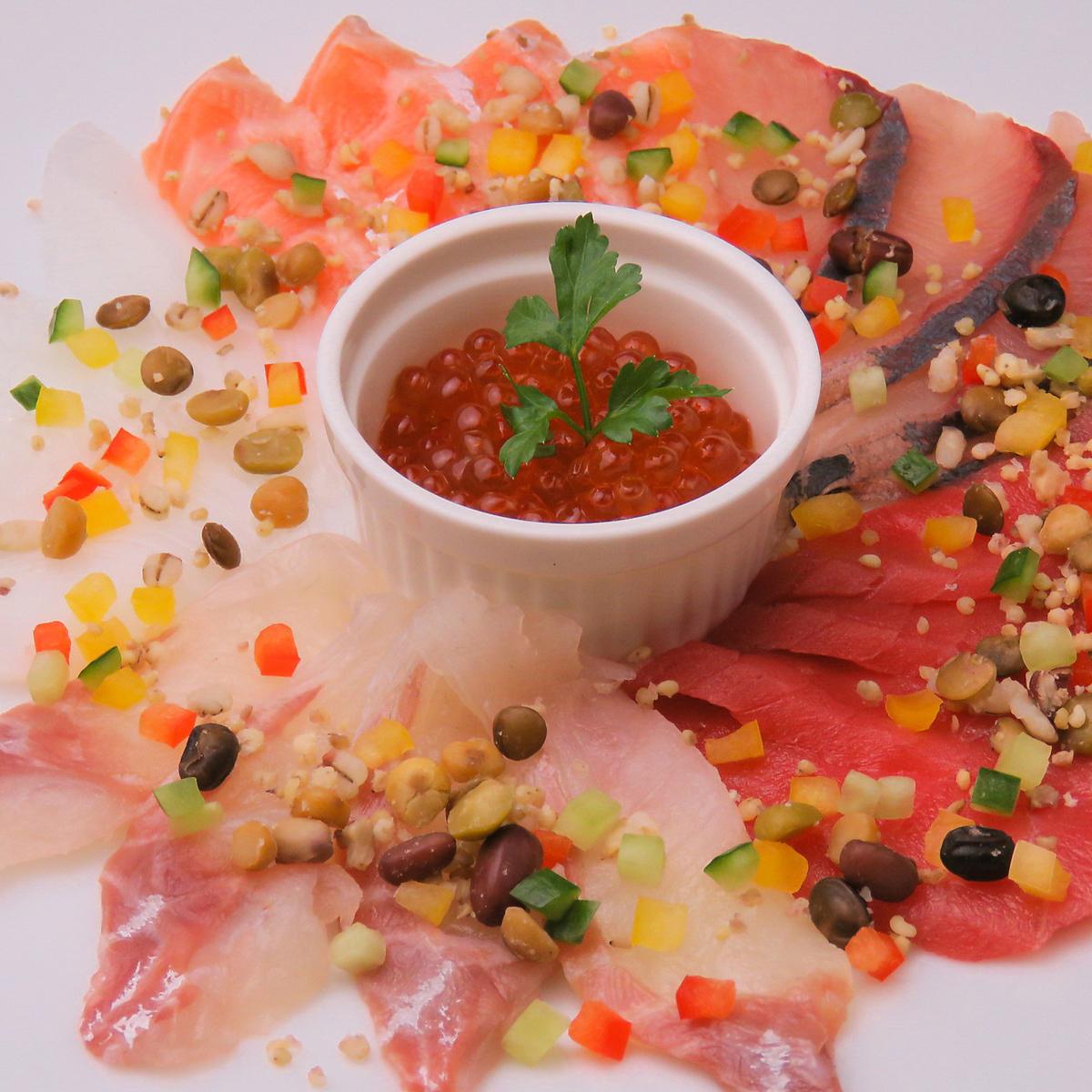 名物 海鮮カルパッチョ 5種盛り
