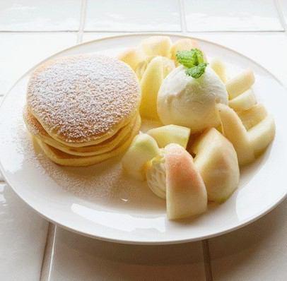 ■ 복숭아 팬케이크