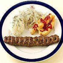 辛口挽肉の串焼き