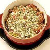 ラム肉煮込みオーブン焼きチーズのせ
