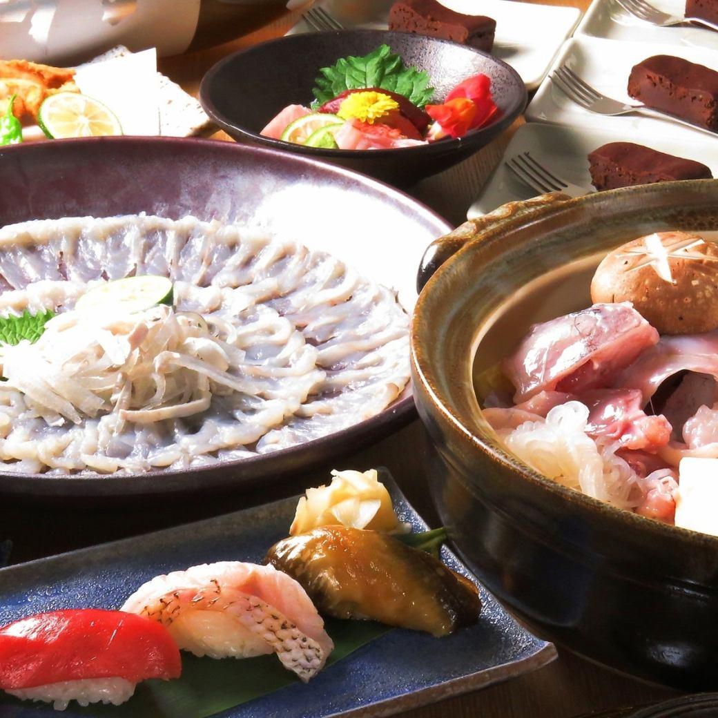 静岡の夜景と職人の握る寿司、フグを愉しむ大人の隠れ家