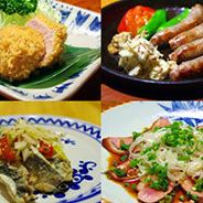 菩提樹の酒菜コース(3200円)<全7品>揚物盛り合わせや旬魚のカルパッチョなど◎