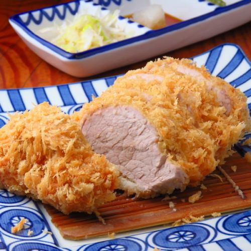 国産銘柄豚ひれかつ定食120g