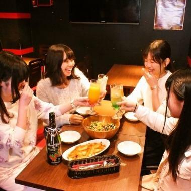【高田馬場的女子協會,宴會,各種各樣的場面♪★】商店裡面的空間寬敞,能在各種各樣的場景使用☆在高田馬場/居酒屋/女子協會/生日/可以吃它非常適合公司宴會/圈飲料和私人♪