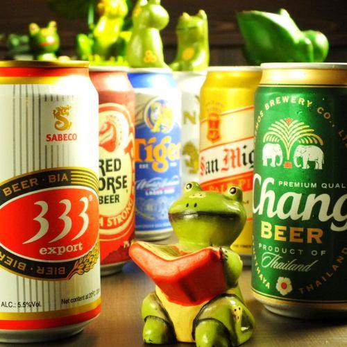 アジアビールも8種厳選!!