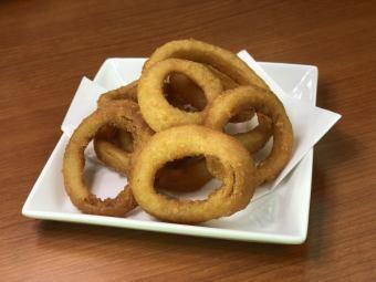 Fry crisp onion