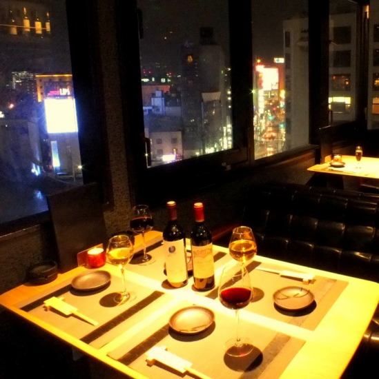 Panorama lounge where all the seats night view is visible ★ Date, anniversary, ◎ on special day
