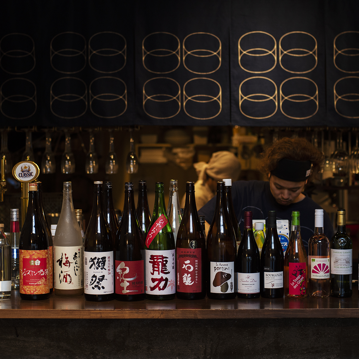 """仔細選擇""""Pon酒""""。葡萄酒,酸和清酒,自由"""