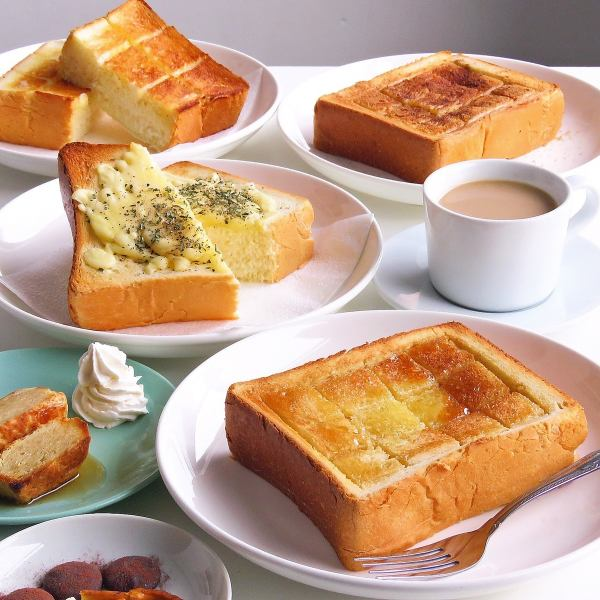 50mmほどの、厚切りのトーストは店長のおすすめの一品☆
