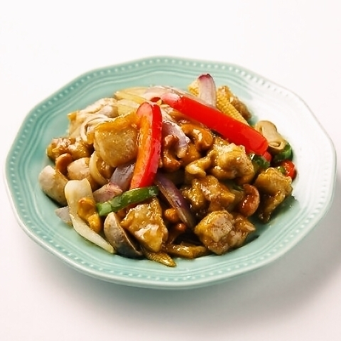 鶏とカシューナッツ炒め