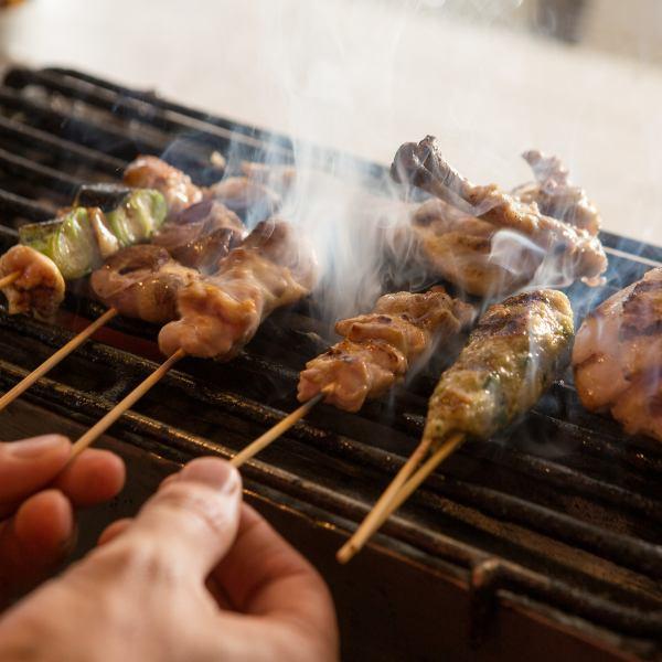 こだわり2●兵庫県産の食材を新鮮に…備長炭で焼き上げる焼き鳥♪