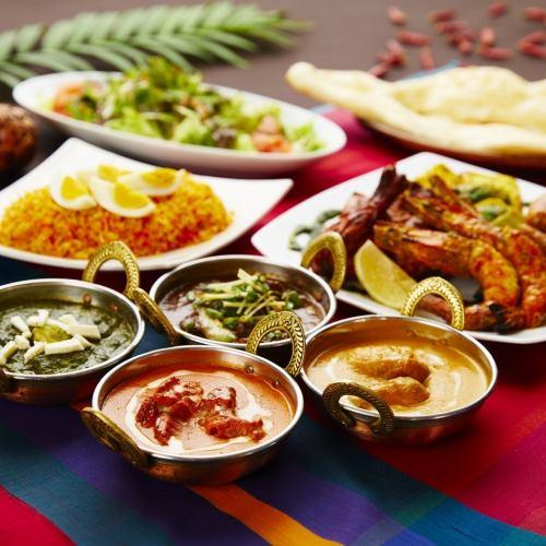 定番インド料理を堪能