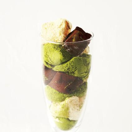 ·甜點·三種顏色變化,Warabiki mochi