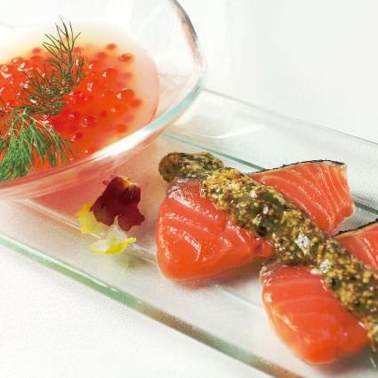 ·開胃菜·鮭魚和鮭魚鮭魚的父母和鮭魚