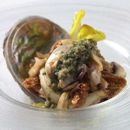 ·開胃菜·恍惚海洋和山地鮑魚~Burginion butter~