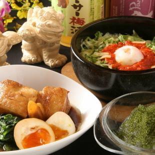 【排盡沖繩美食】所有18道菜3H全友暢飲,課程8,000日元6,6,500日元