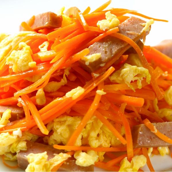 Okinawa home cooking carrots Shirishiri