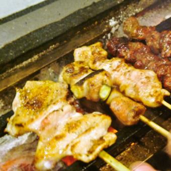 【Randomly skewered grilled platter】 seven different kinds