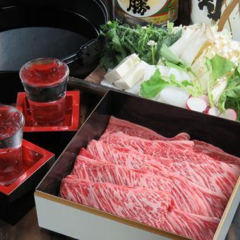 来自上富良野的大理石鱼和虾的国产牛肉·当地养猪的涮锅·Suki 100分钟吃所有你可以喝6680日元