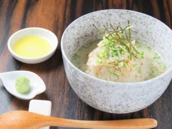 コラーゲン茶漬け(鶏ダシ)