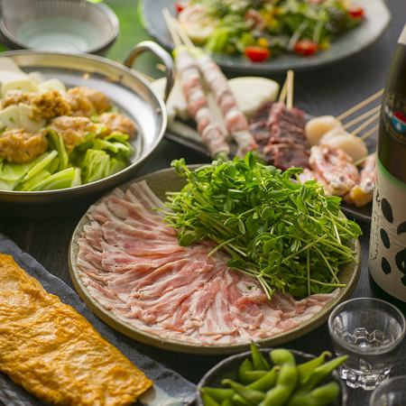 [Great satisfaction! Hot pot and iron plate skewer] Hot pot and skewer course! 100 minutes with all you can drink ☆