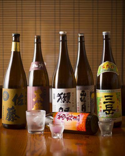 豊富な焼酎・日本酒