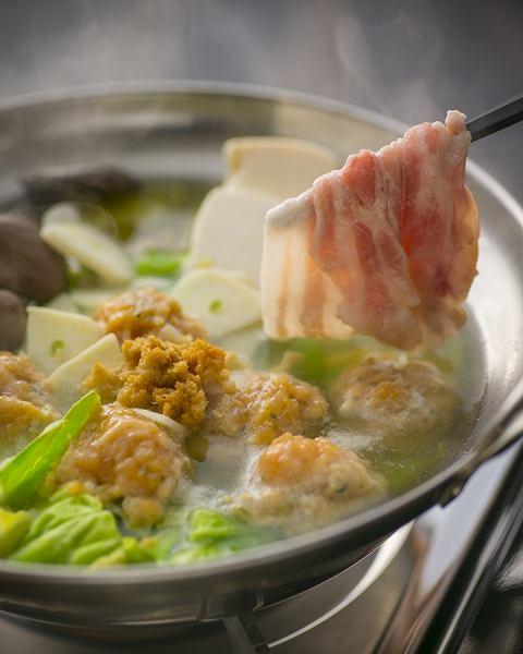 ◆にんにく生姜鍋 (霧島山麓豚使用)