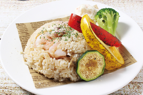 Grilled pilaf vegetables with choice