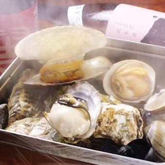 Steaming shellfish steamed sushi (2 to 3 servings) / big sheng (3 to 4 servings)