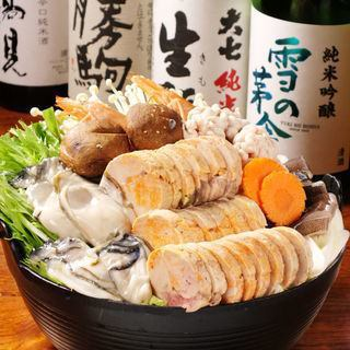 【Luxurious ingredients packed! Excellent tasteful gout pot party feast course】 All 6 items 5500 yen!
