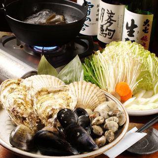 【津生惊讶!豪华贝类锅派对套餐】全部6件5500日元!
