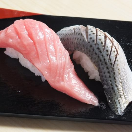 """Those who wish to have a good meal"" Three sashimi or tempura Sushi and sushi 14 red long syrup 2780 yen (excluding tax)"