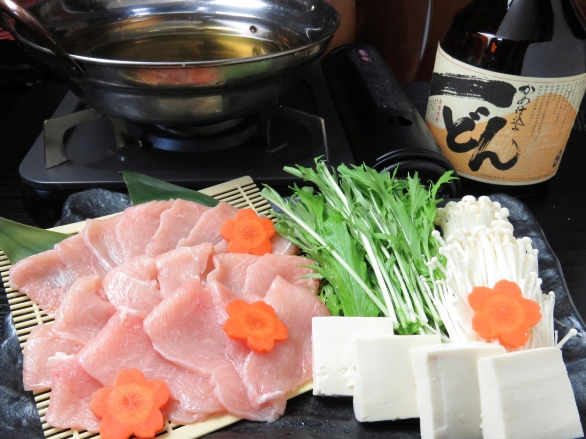 Fresh morning pork chicken shabu