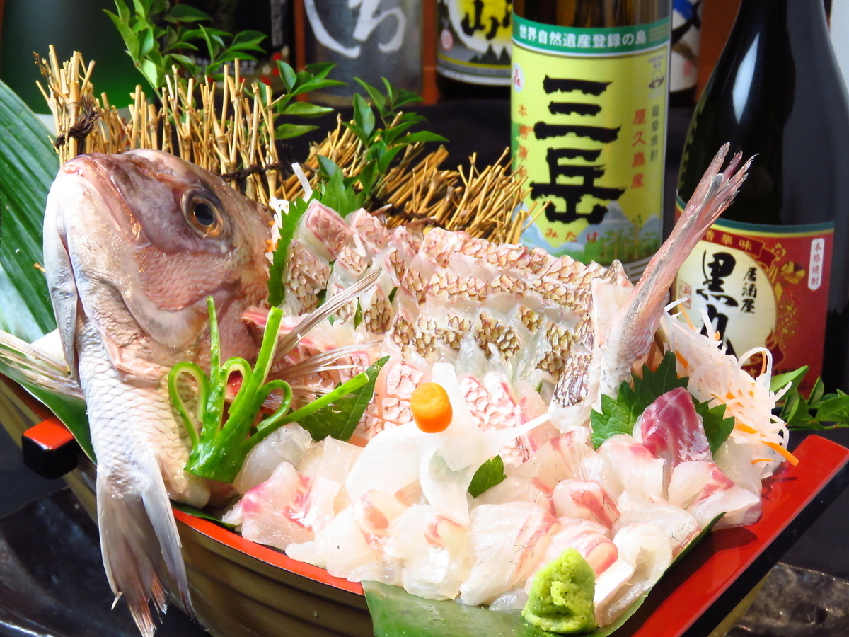 I am confident of not only chicken · black pig but also fresh fish.