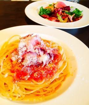 Italian ham of spaghetti (Bianco or Rosso)