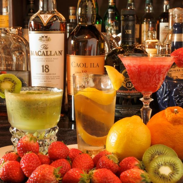 Use the whole seasonal fruit !! Raw fruit cocktail ♪ We will add 1 cup + 500 yen to each course and pack!