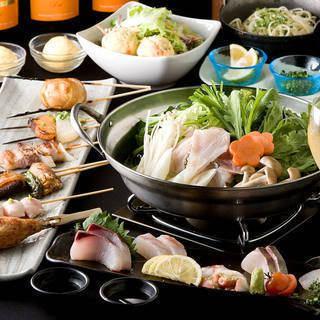 博多名物【水炊き】【もつ鍋】も要予約でご用意しております!