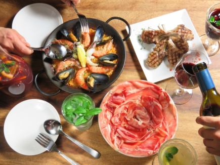 【Seasonal cuisine, raw ham, paella etc】 Special course 3400 yen [All 10 items]