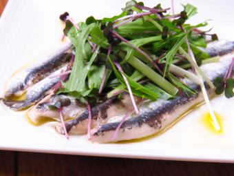 Pickled sardines