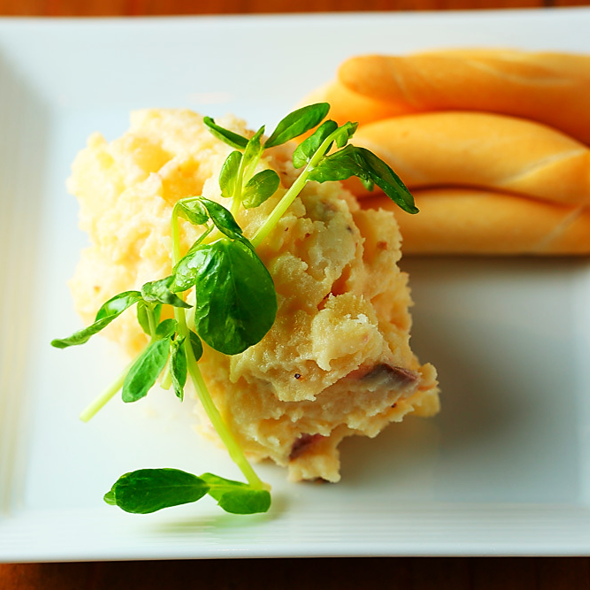 Anchovy potato - Spanish version potato salad -