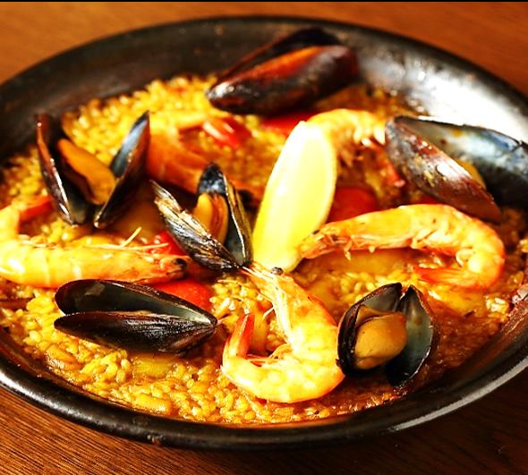 Seafood Paella 2 or 3 servings