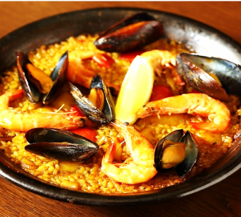 Seafood Paella 2 or 3 servings