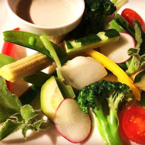 五颜六色的菜Bagna cauda