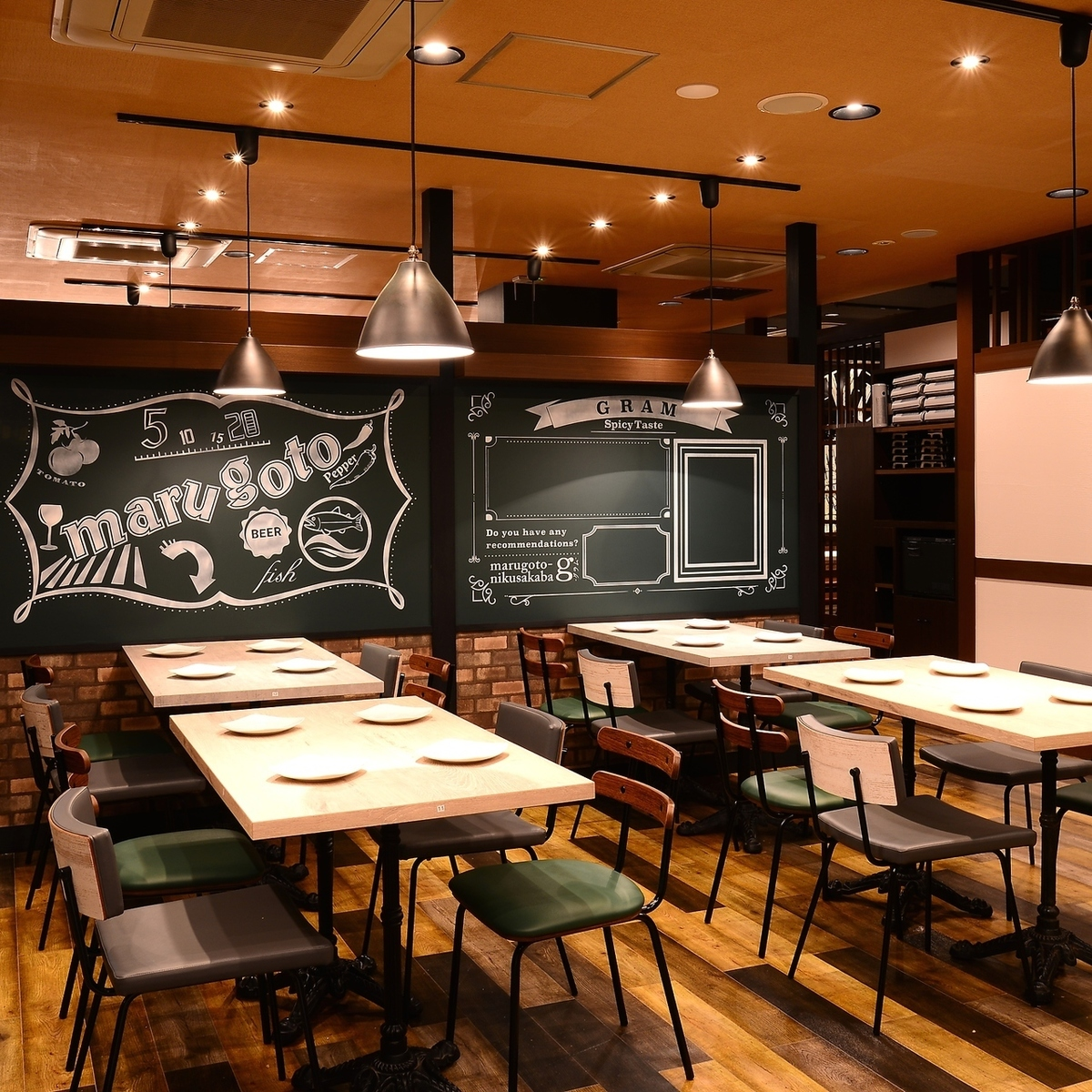 Enjoy chef special meat dishes in spacious space!