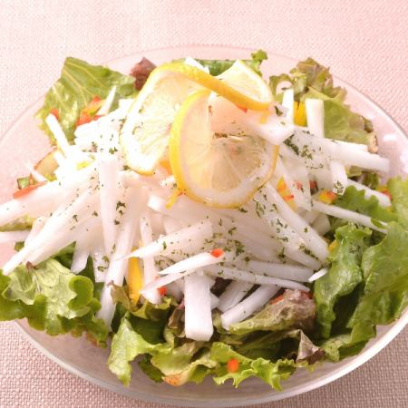 Geniabese沙拉配shakijaki蔬菜