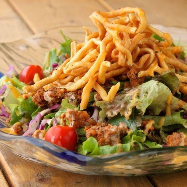 Taco de on the salad